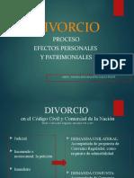 Divorcio. Régimen Legal y Efectos