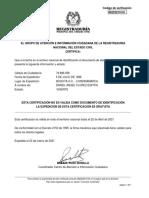 Certificado estado cedula 79896058