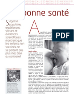 Nexus 67 - Dr Françoise Berthoud - La bonne santé des enfants non vaccinés (mars 2010)