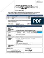 (CONTOH) Melaksanakan audit inspeksi asesmen keamanan pangan