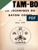 Zin Jean - Le Tam-bo La Technique Du Baton Court