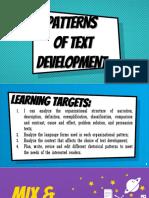 Week 1l1 Patterns of Text Development