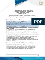 Guia de actividades y Rúbrica de evaluación - Unidad 1- Fase  2 - Planeación del proyecto a realizar