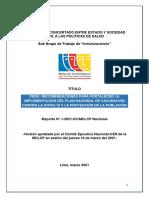 MCLCP. Sub GT Inmunizaciones. Recomendaciones 18.03.2021