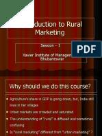 Rural Marketing Intro XIMB