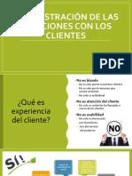 Clase #8 Administración de las relaciones con los clientes