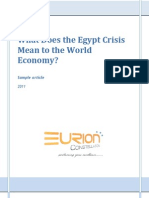 EURION - What Does the Egypt Crisis Mean to the World Economy?