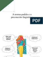 Norma padrão e preconceito linguístico - 8º