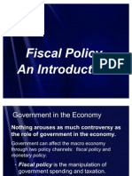 fiacal policy an introduction