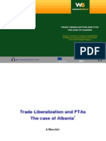 Trade Liberalization and FTAS, Case of Albania