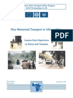 Lessons of Non-motorised Transport in Africa
