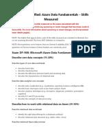 Microsoft Certified Azure Data Fundamentals Skills Measured