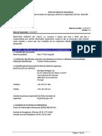Exemplo de Ficha de Dados de Segurança