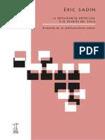 (Xixaro) Éric Sadin - La Inteligencia Artificial o El Desafío Del Siglo_ Anatomía de Un Antihumanismo Radical-Caja Negra (2020)
