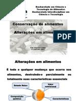 Conservação de Alimentos E alterações