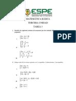 Tarea 3 Sistemas de Ecuaciones