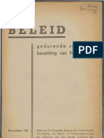 Beleid gedurende vijf jaren bezetting van Nederland.