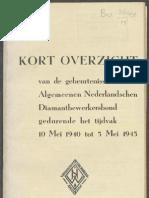 Kort overzicht van de gebeurtenissen in den ANDB gedurende het tijdvak 10 mei tot 5 mei 1945