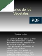 Corte de Verduras ppt
