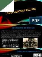 L'educazione fascista
