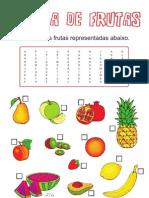 Sopa de Letras - Salada de Frutas
