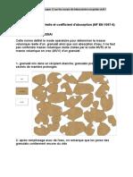 M asse volumique réelle et coefficient d'absorption (NF EN 1097-6)