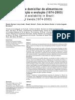 Disponibilidade Domiciliar de Alimentos No Brasil