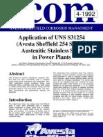 SMO 254 UNS S31254