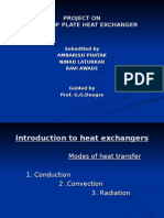 design of plate type heat exchanger Project PPt