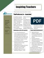 Teacher's Newsletter - March 2011