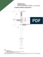 003 320 – PT1 – Estrutura Pilar no Poste Trifásica 13,8 KV e 34,5 KV – Passante Triangular com Suporte Para Isolador