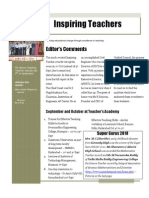 Inspiring Teachers Newsletter - Oct 2010