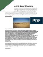 La Minaccia Della Desertificazione