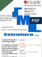 HTML ESADE - Programação WEB I