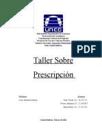Taller Sobre Prescripción
