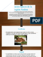 Productos típicos de la región Andina