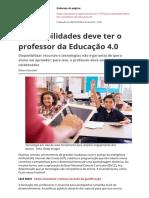 Que Habilidades Deve Ter o Professor Da Educacao 40pdf
