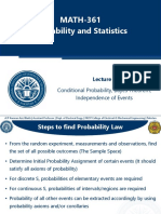 Week 3 - Conditional Probability, Bayes Theorem, Independence of Events