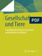Gesellschaft Und Tiere_ Soziolo - Birgit Pfau-Effinger