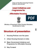1.Government Initiative and Programme for Affordable Housing--Pankaj Joshi, Dir(H), MHUPA