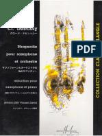 Claude Debussy - Rhapsody (Partitura Saxofón - Versión 2)