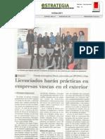 Licenciados harán prácticas en empresas vascas en el exterior.