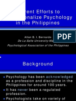 Professionalize Psychology in Philippines_Alan Bernardo