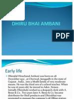 427bDHIRU BHAI AMBANI ppt