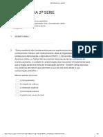 Avaliação Diagnose Geografia 2 serie