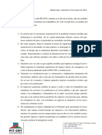 Declaración Secretariado Ejecutivo PIT-CNT Marzo 24