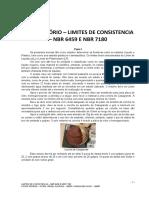 Limites de Consistencia – Nbr 6459 e Nbr 7180