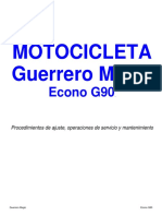 Manual serv y mant moto  Guerrero  Magic Econo G90 (e)
