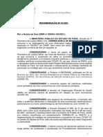 Recomendação do MPPA Militar para a PM