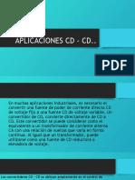 APLICACIONES CD – CD